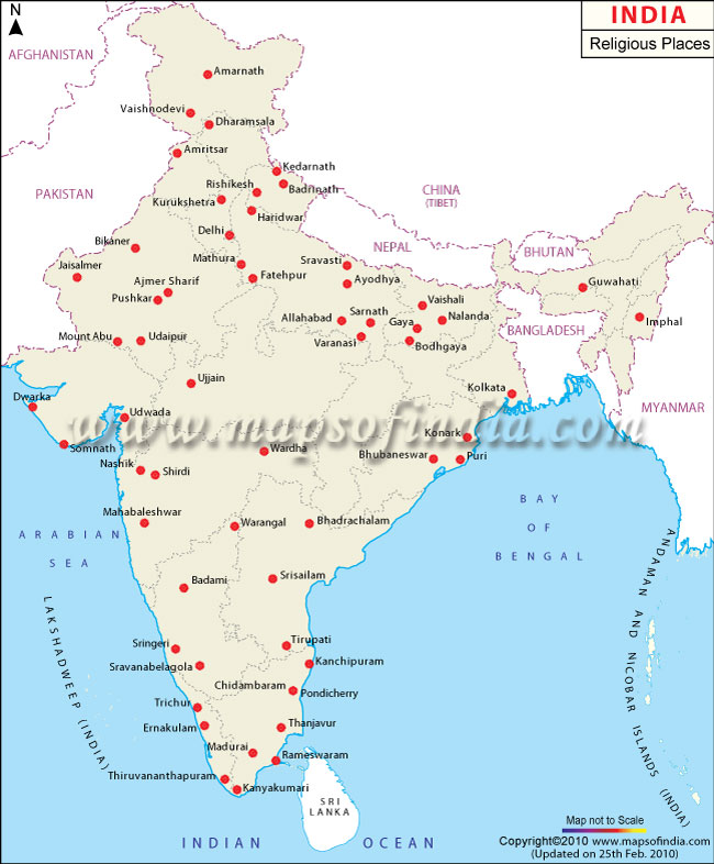 Map Of India Hindu Religion Hinduism Indian Religion Ancient - India religion map